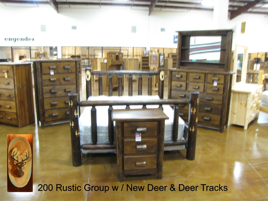 200 Rustic Group w Deer and Tracks