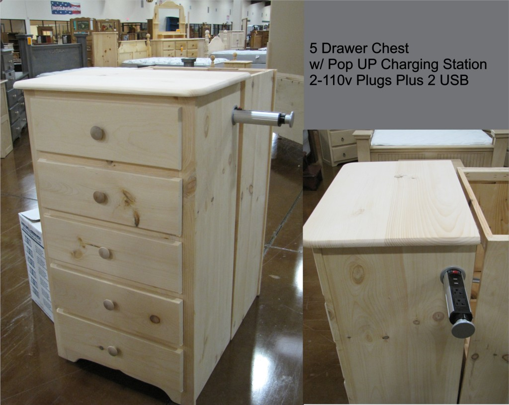 5 Drawer Chest w Charging Station