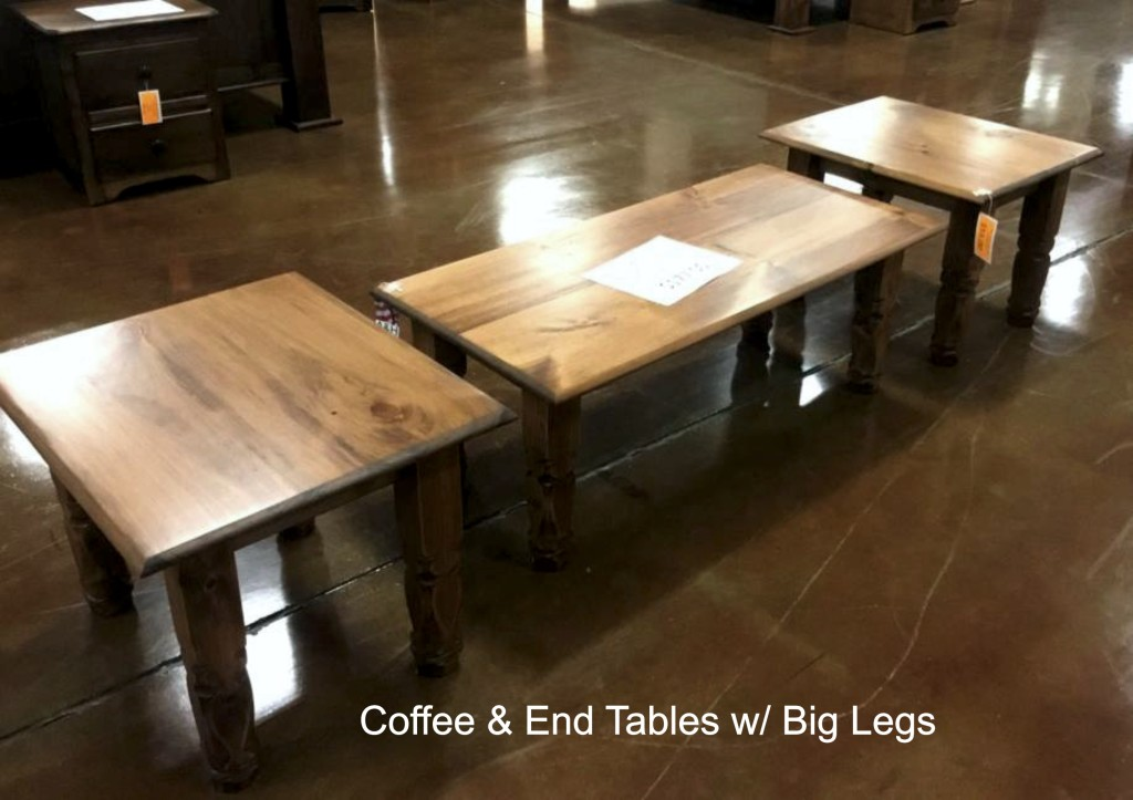 Coffee End Tables Big Legs