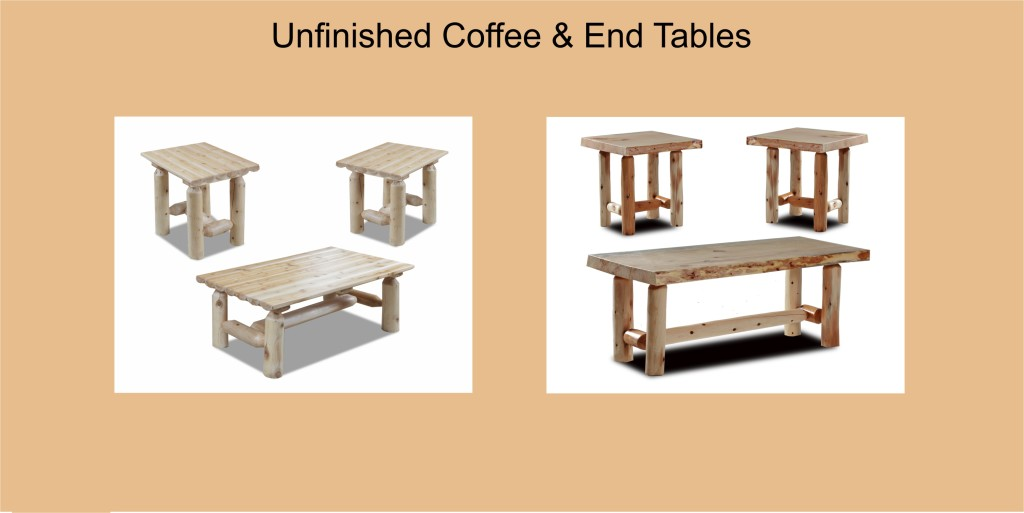 Unfinished Coffee End Tables