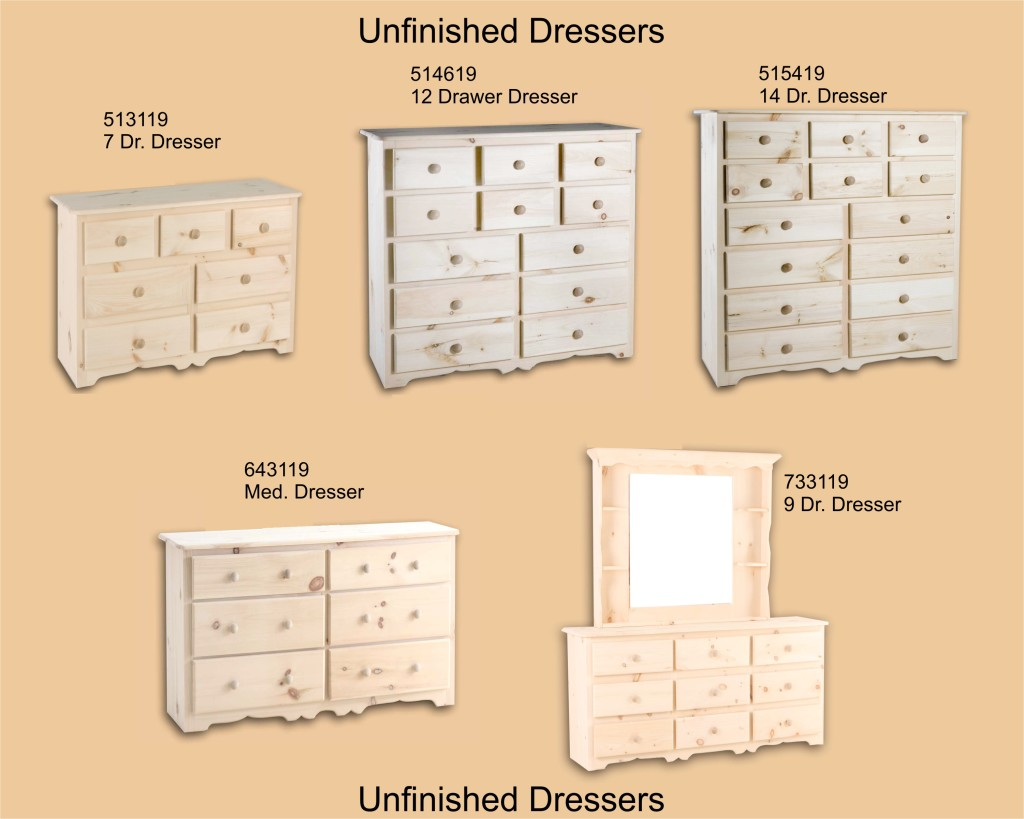 Unfinished Page 7 Dressers