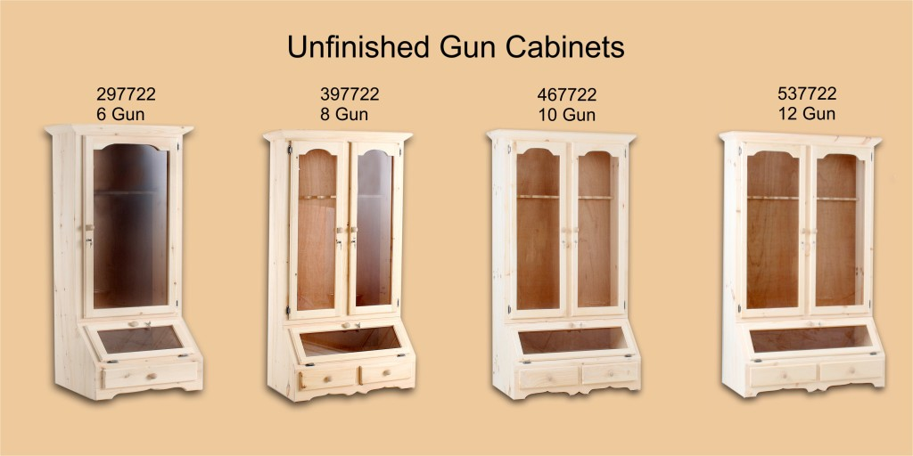 Unfinished Page 9 Gun Cabinets