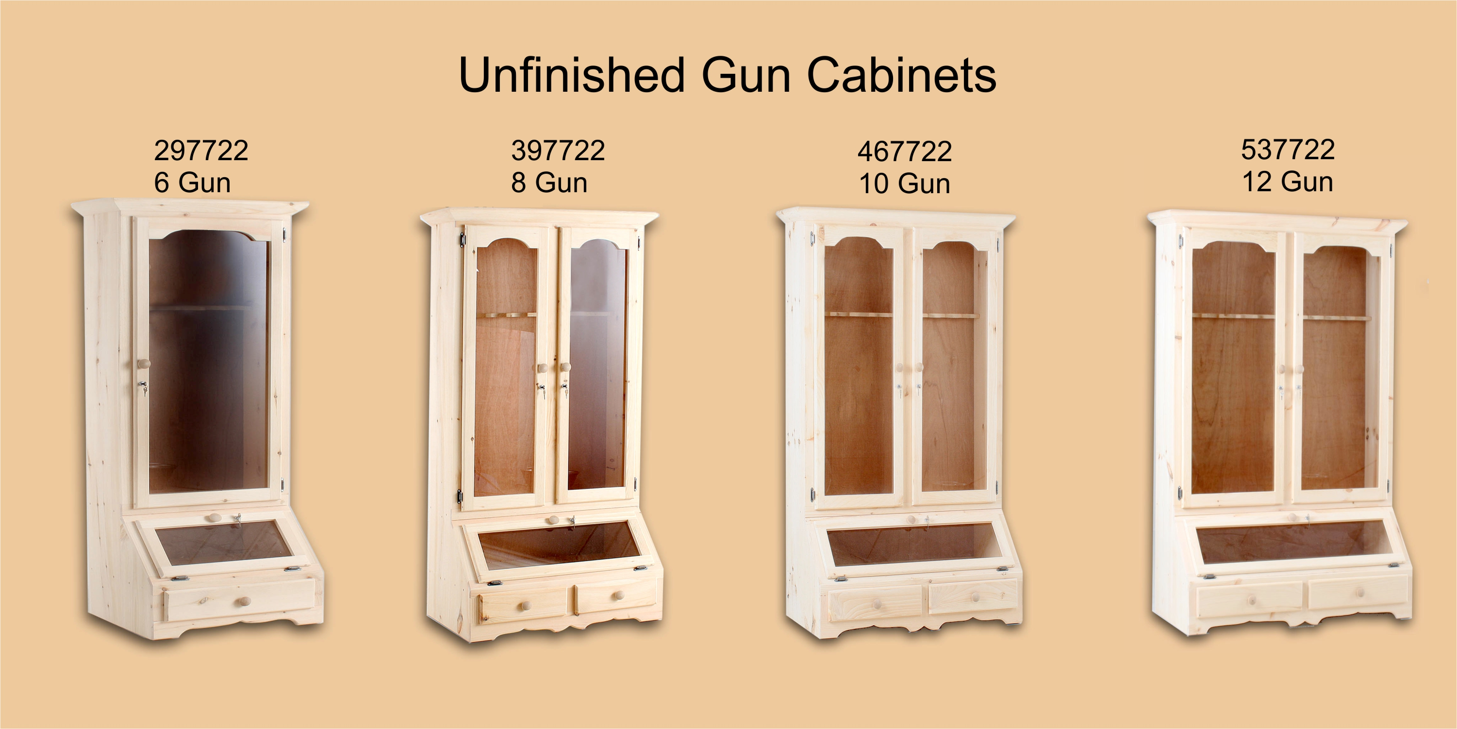 Gun Cabinet With Decorative Gl De Vries Woodcrafters